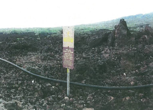 Existing water line at `Ahihi-Kina`u Natural Area Reserve