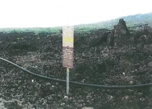Existing water line at `Ahihi-Kina`u Natural Area Reserve
