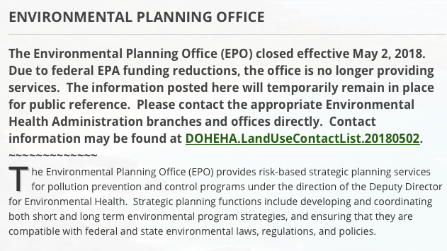The Epa Is Closing Office That Helps >> Environmental Planning Office Closes Victim Of Cuts To Federal Epa