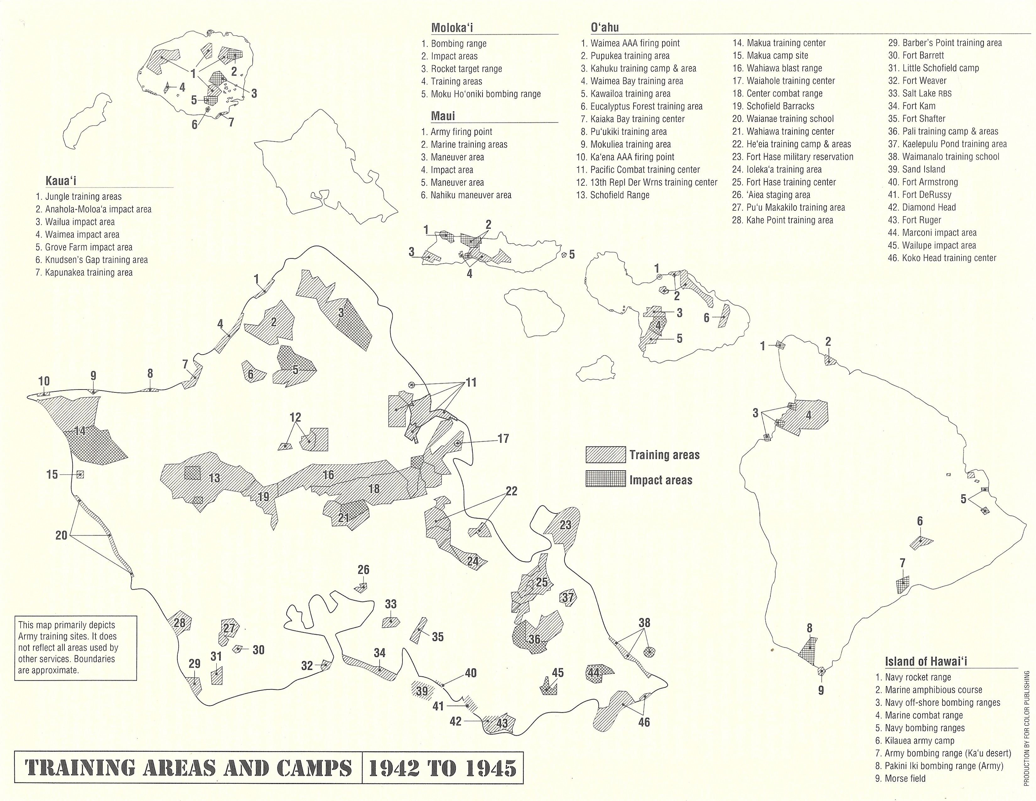 Training Areas and Camps 1942 to 1945 (Map) | on